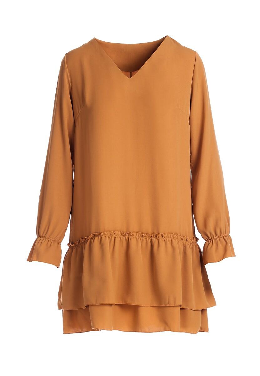 Beżowa Sukienka Hillarys