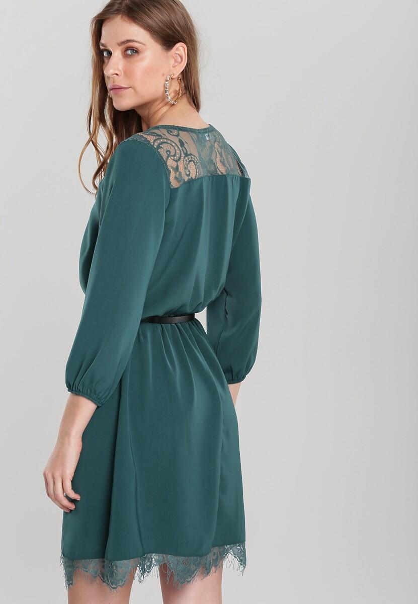Ciemnozielona Sukienka Floreat