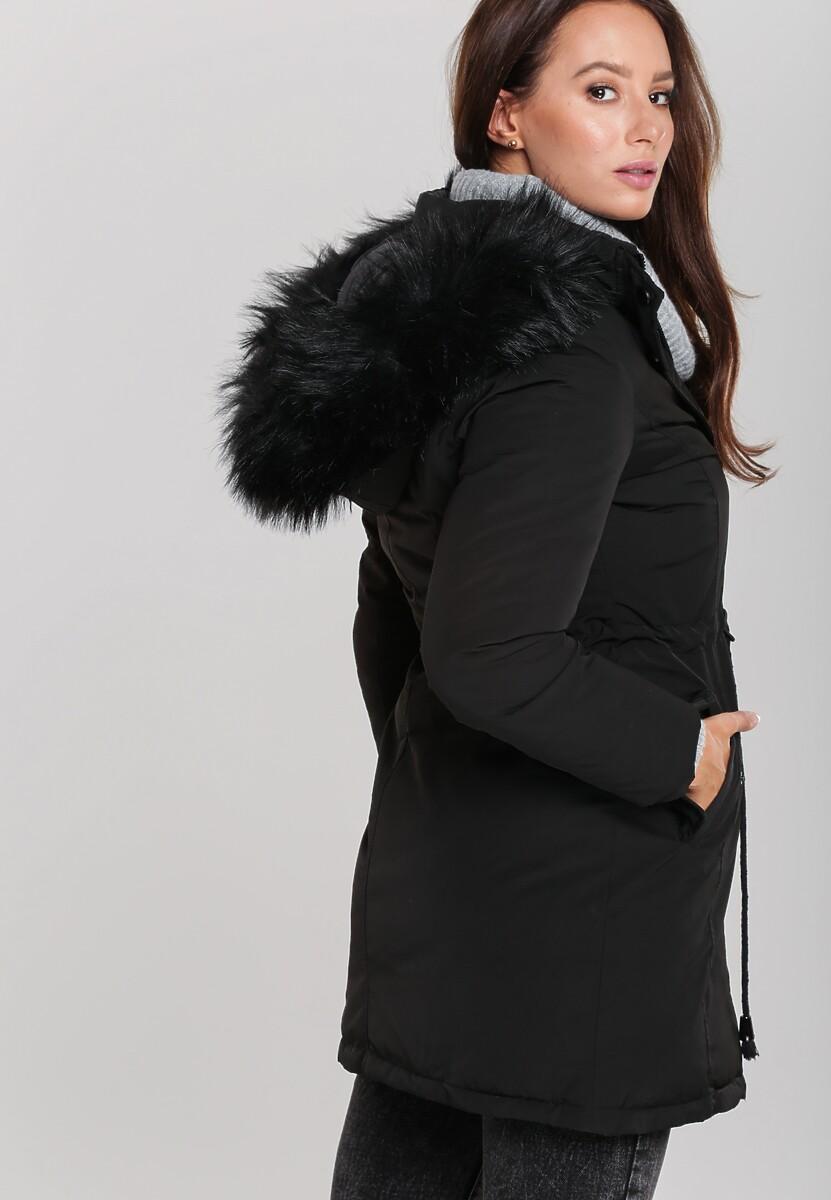 Czarna Dwustronna Kurtka Stanton
