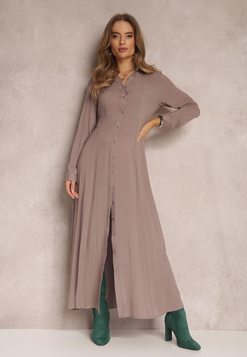 Ciemnobeżowa Sukienka Hillcrest