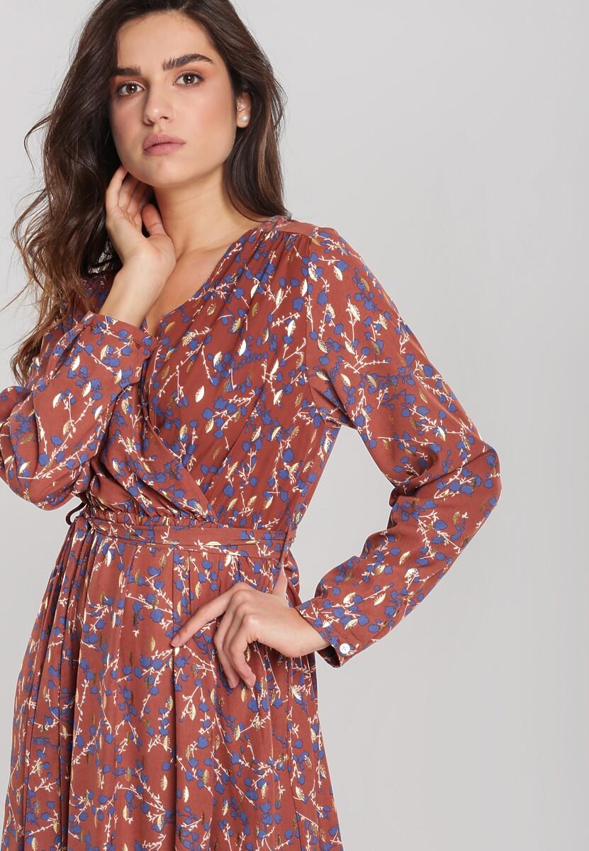 Brązowa Sukienka Cordeaux