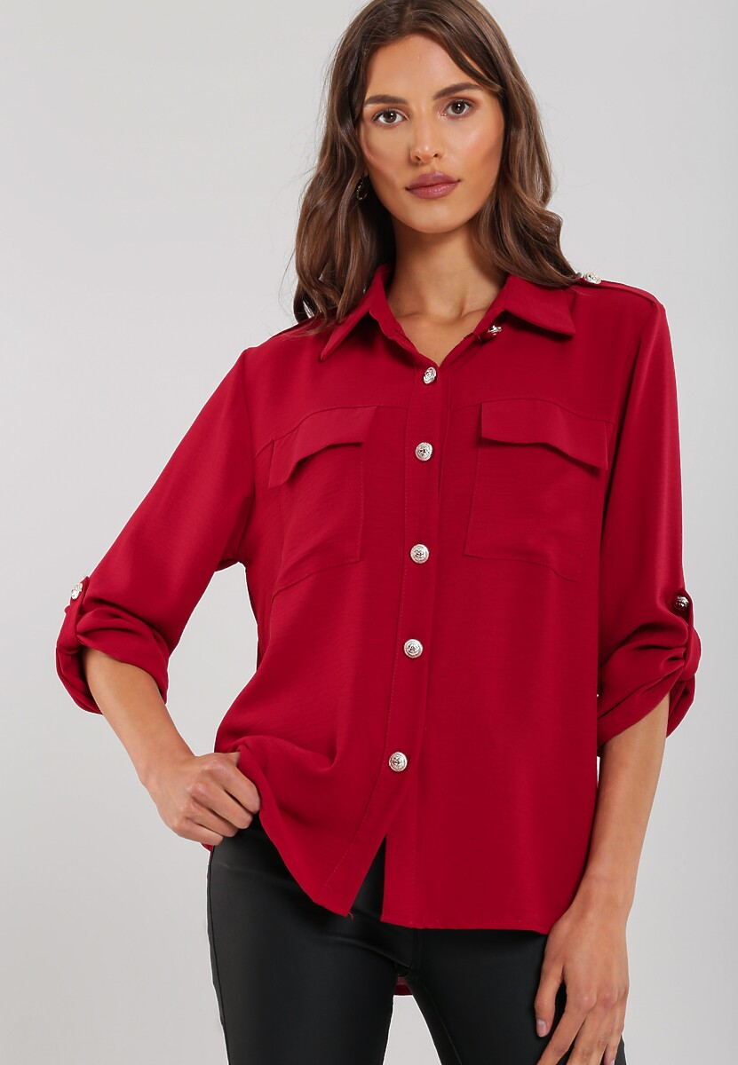 Bordowa Koszula Crestwood