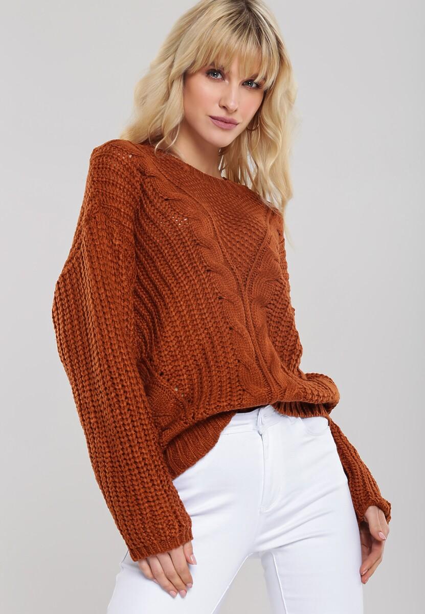 Camelowy Sweter Bernia