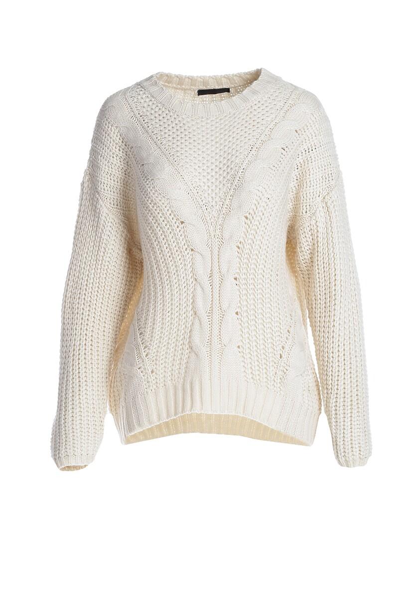 Kremowy Sweter Bernia