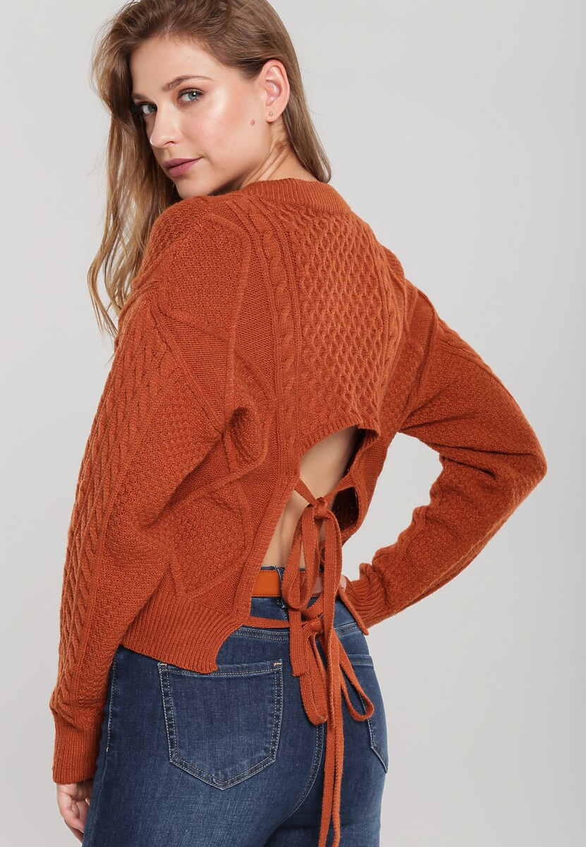 Camelowy Sweter Bon Air