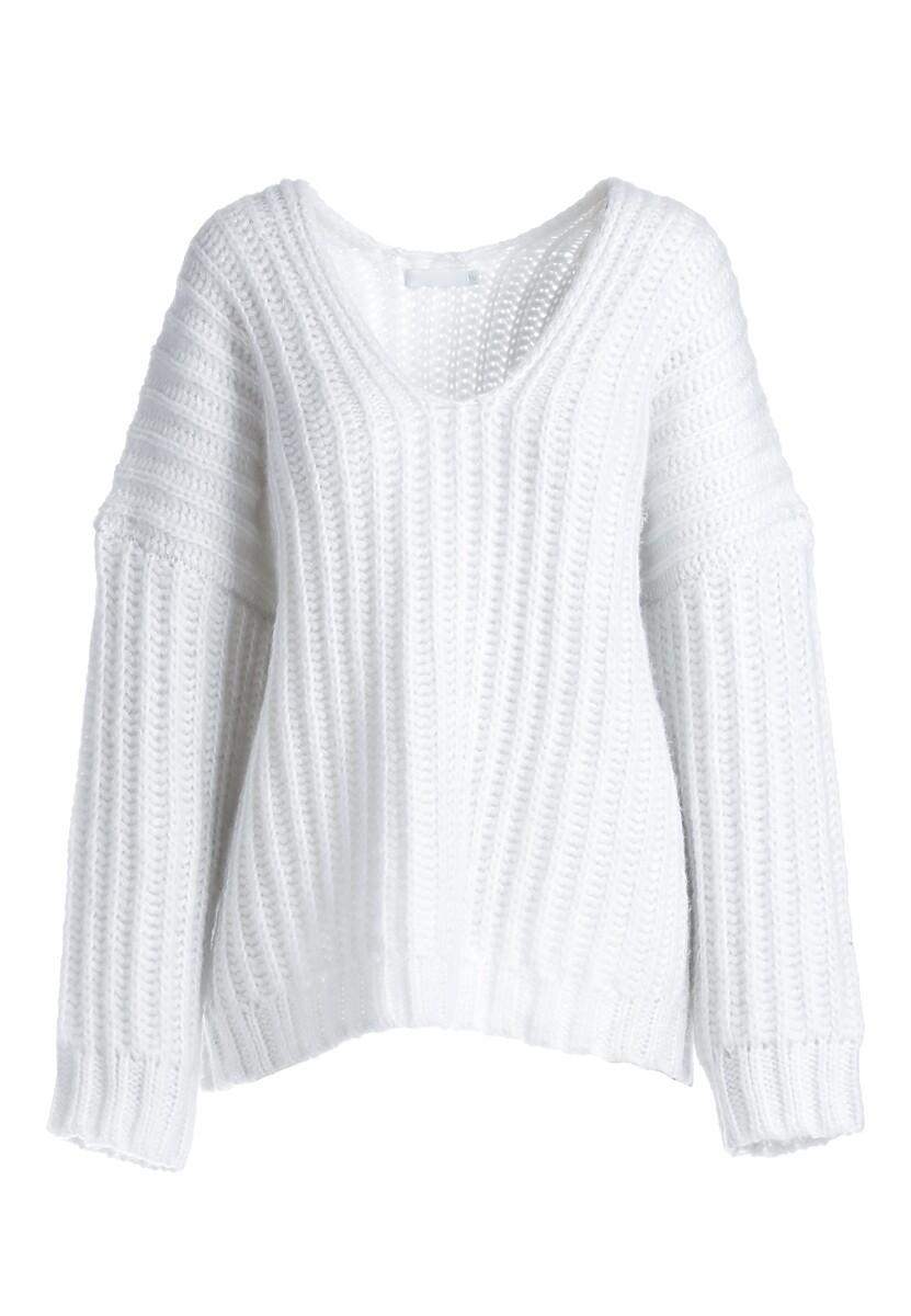 Biały Sweter Greenwich