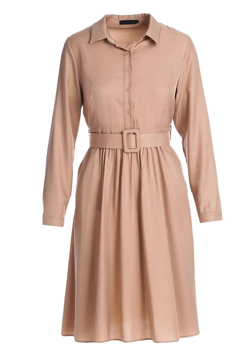 Beżowa Sukienka Parkland