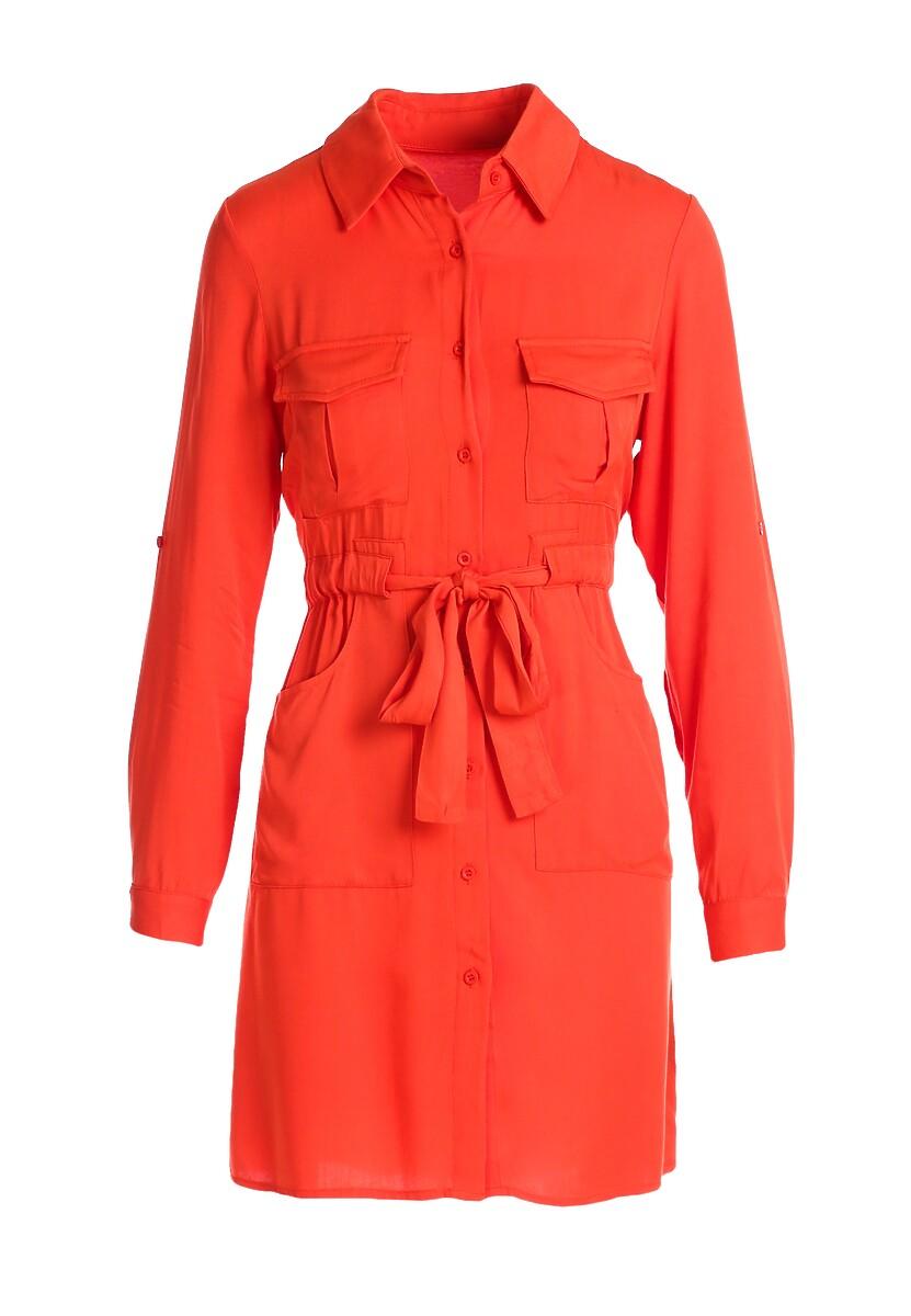 Pomarańczowa Sukienka Homestead