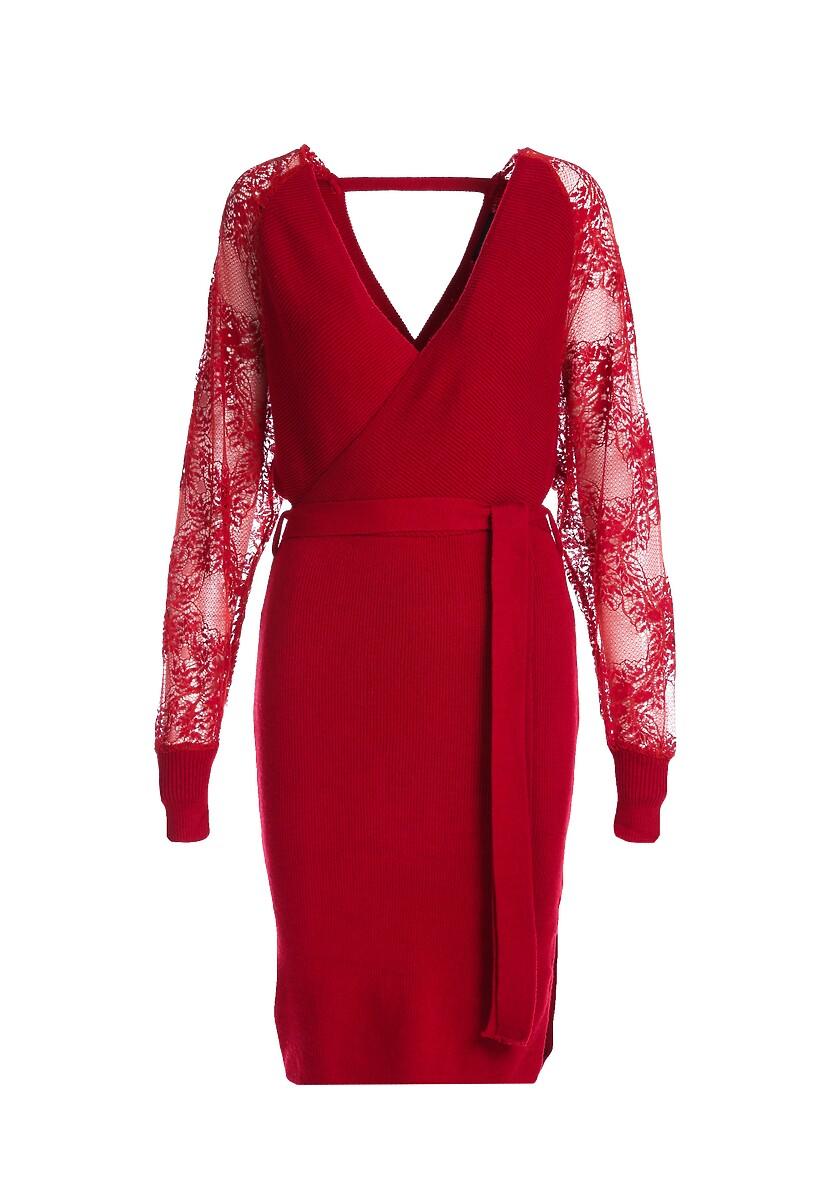 Bordowa Sukienka Braselton