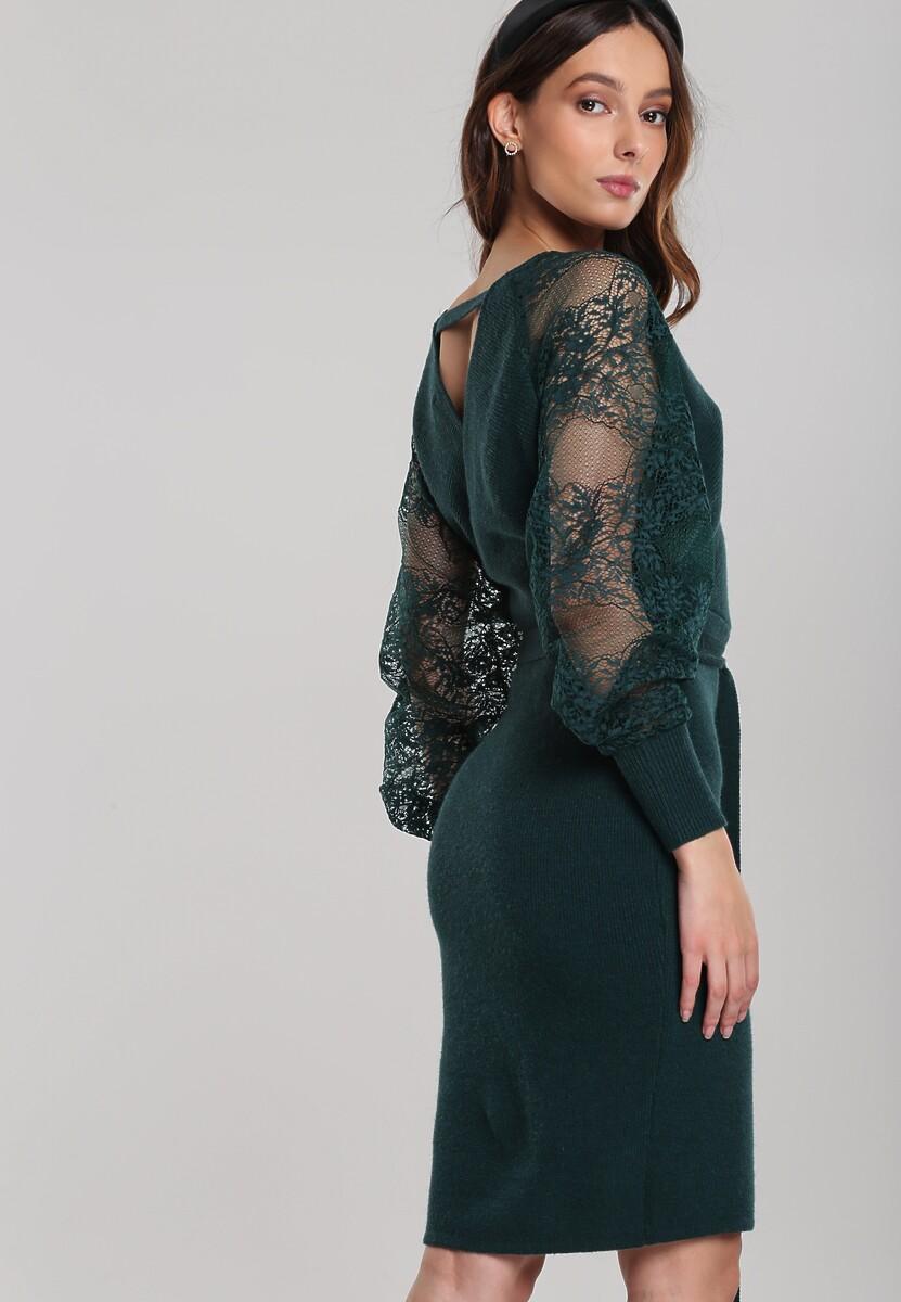 Ciemnozielona Sukienka Braselton