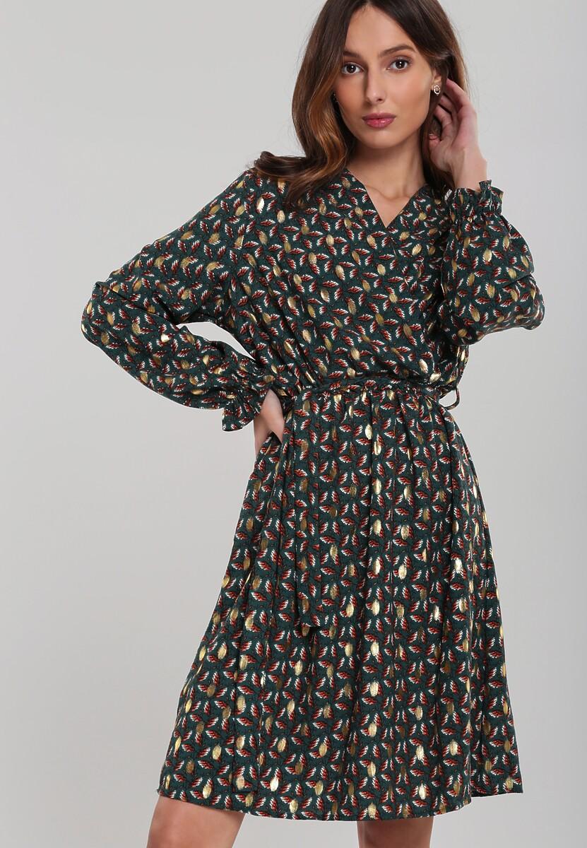 Ciemnozielona Sukienka Keyneston