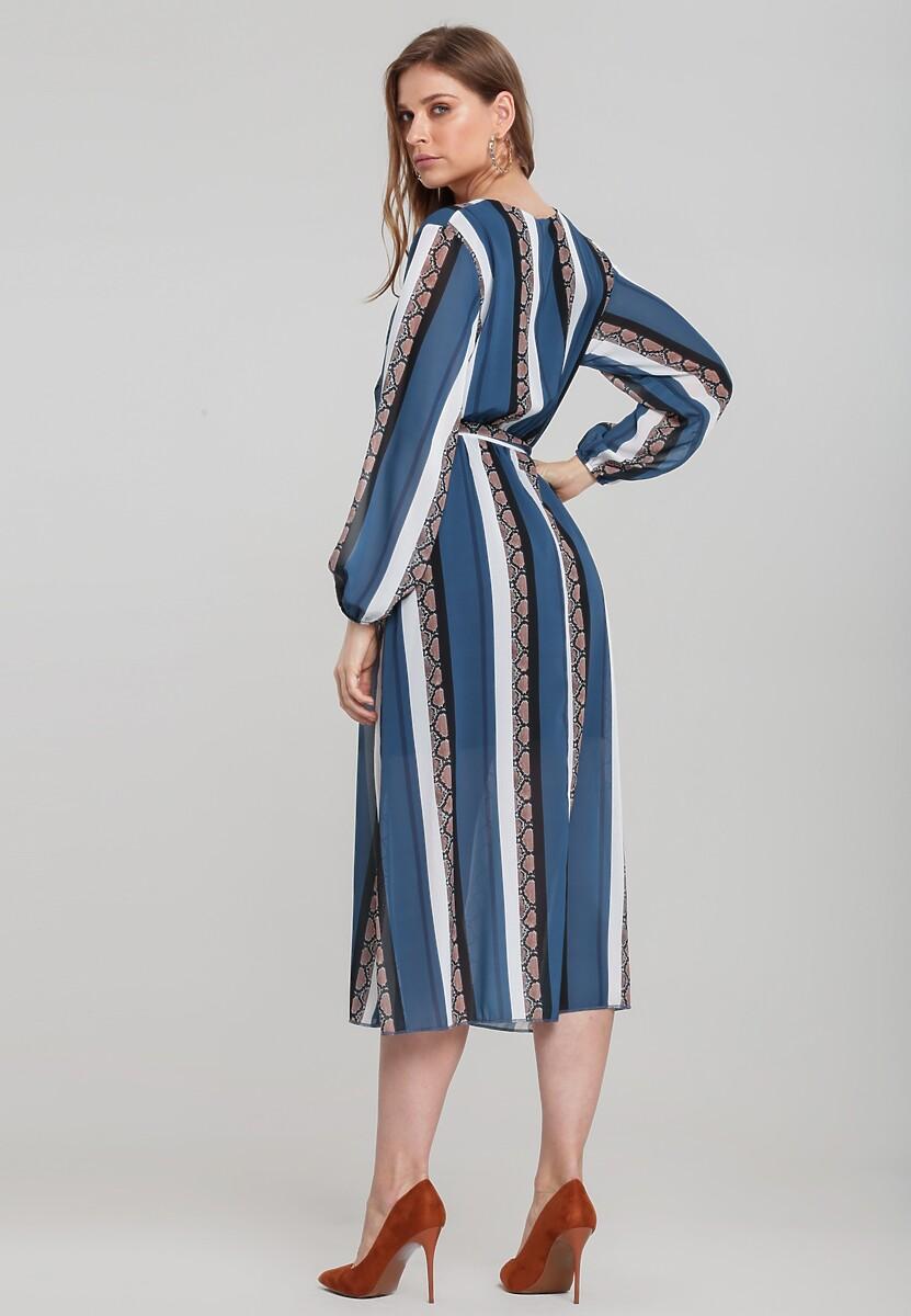 Niebieska Sukienka Vinings