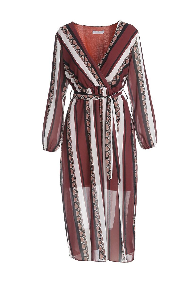 Bordowa Sukienka Vinings
