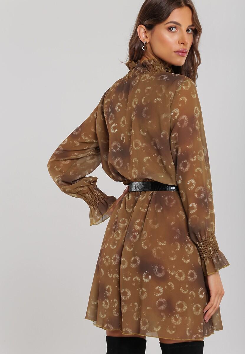 Brązowa Sukienka Horseshoe