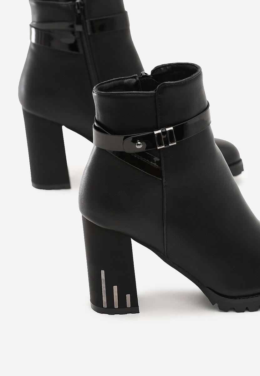 Czarne Botki Shavano