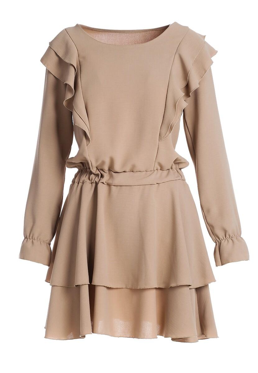 Beżowa Sukienka Woolland