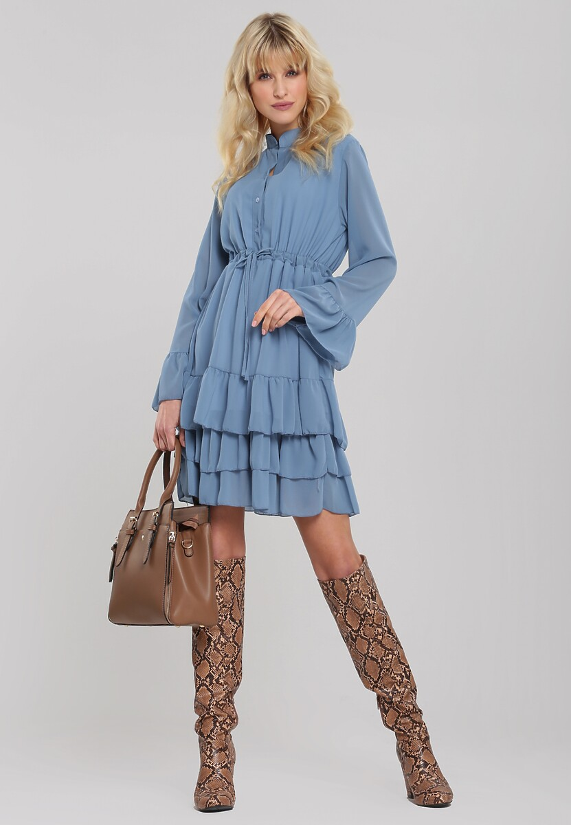 Niebieska Sukienka Zelston