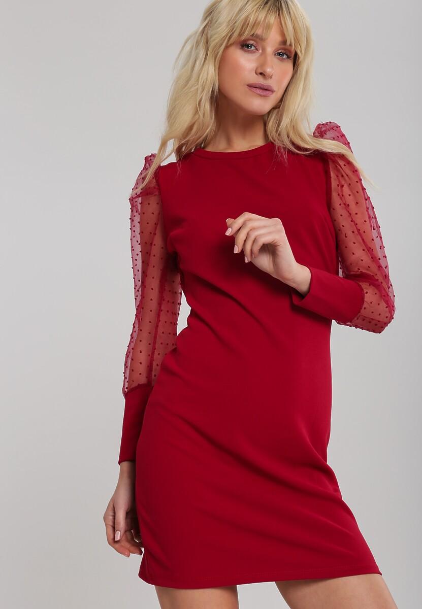 Bordowa Sukienka Rushton