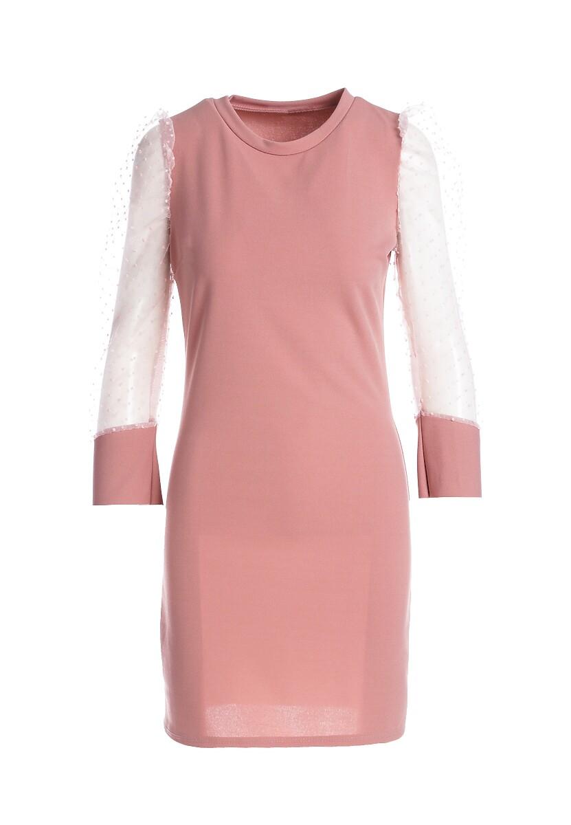 Różowa Sukienka Rushton