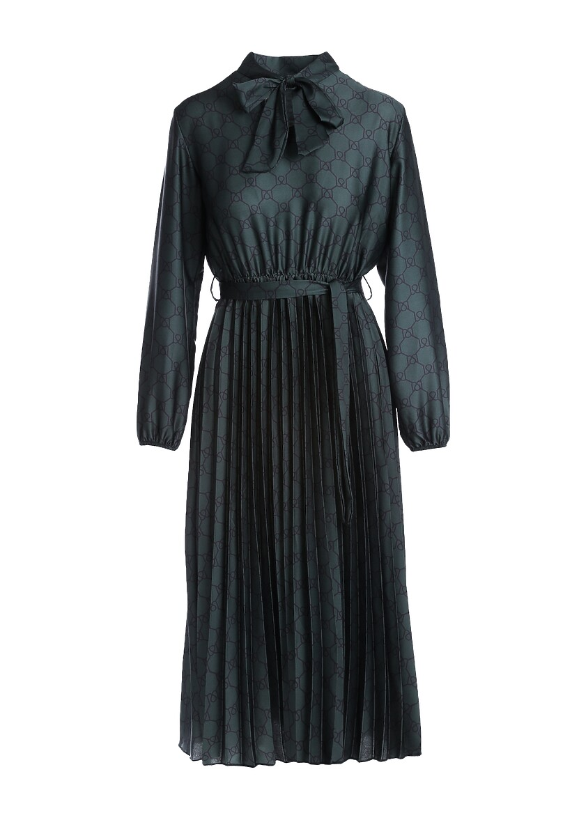 Ciemnozielona Sukienka Todber