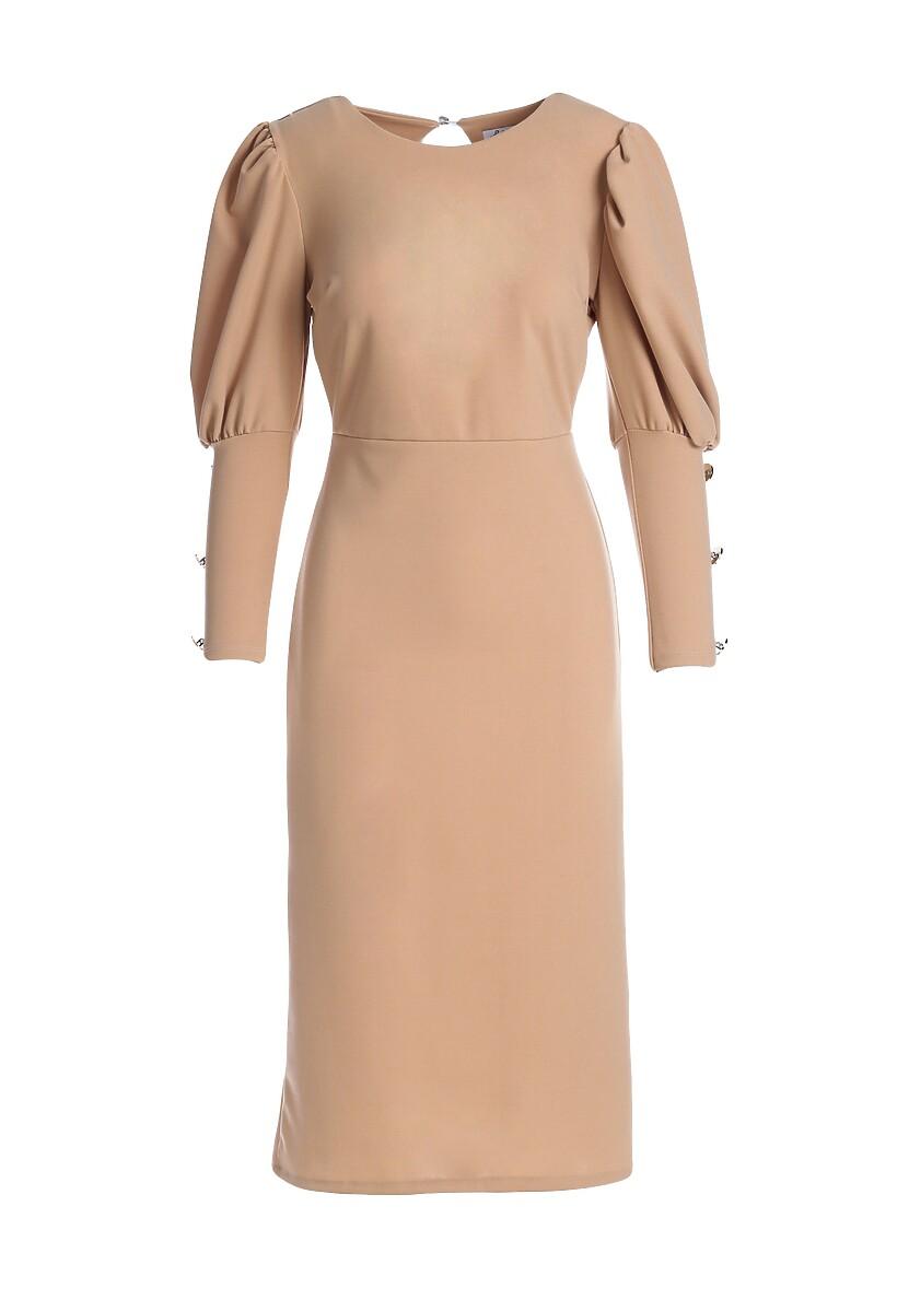 Beżowa Sukienka Whatcom