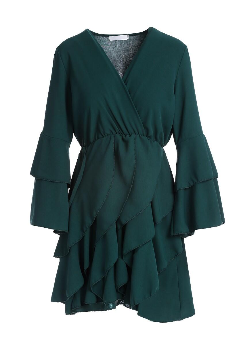 Ciemnozielona Sukienka Meadowbrook