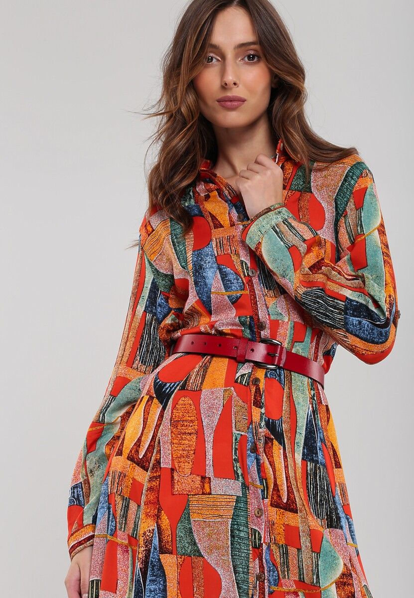 Pomarańczowa Sukienka Carlow