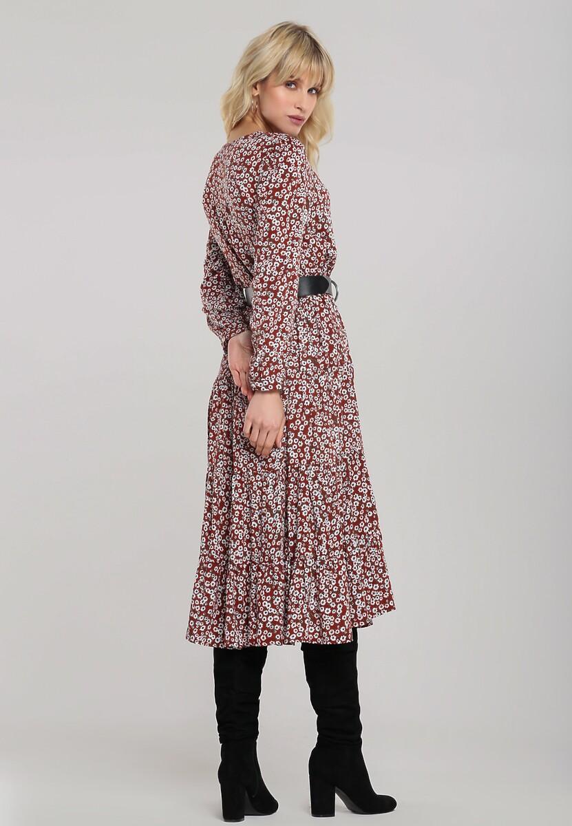 Brązowa Sukienka Winterborne