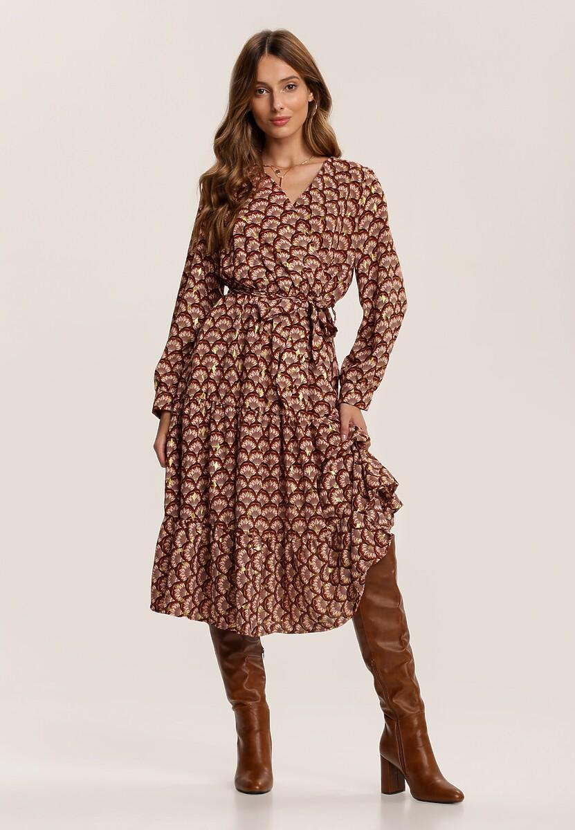 Brązowa Sukienka Gallaudet
