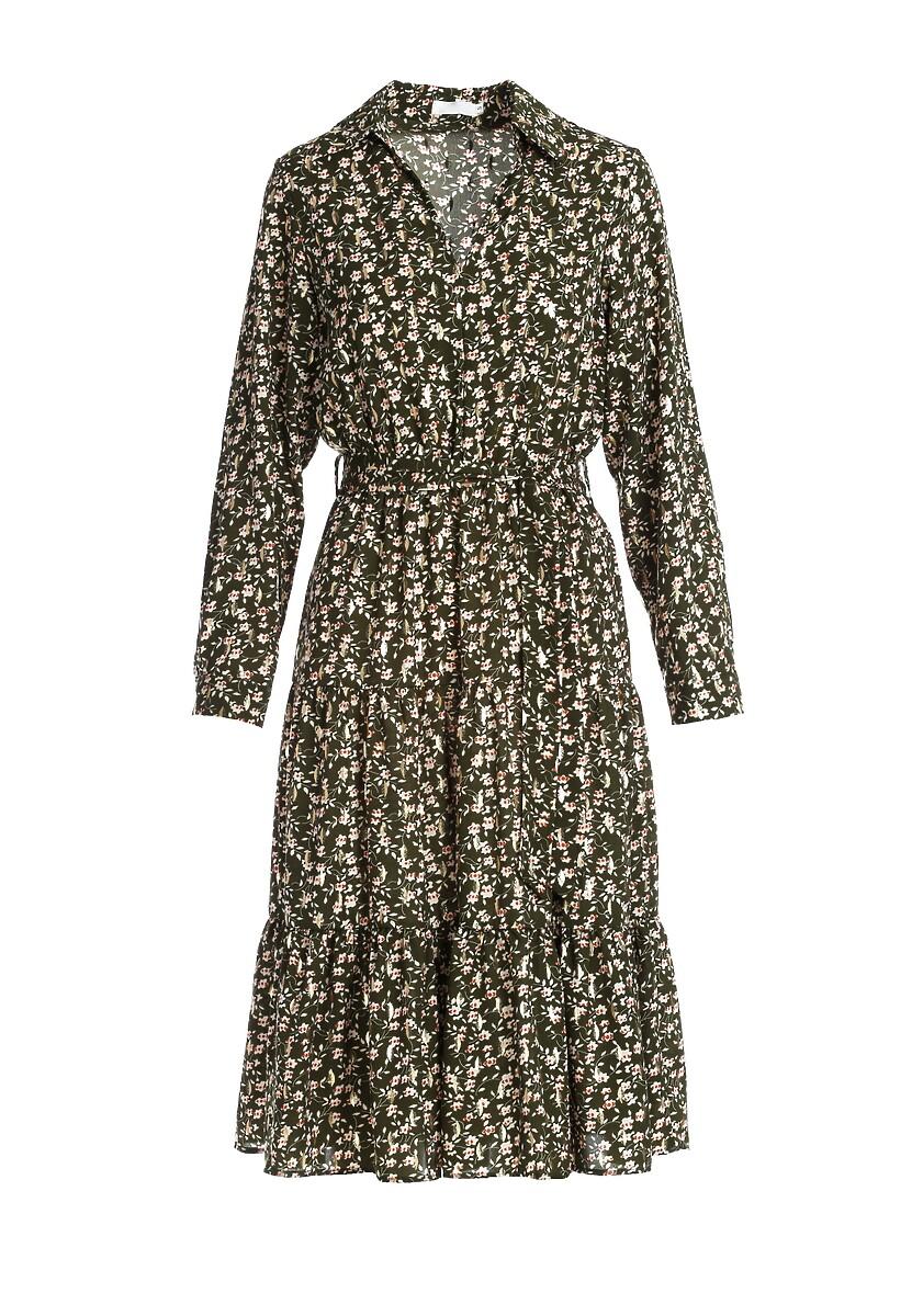 Ciemnozielona Sukienka Clenston