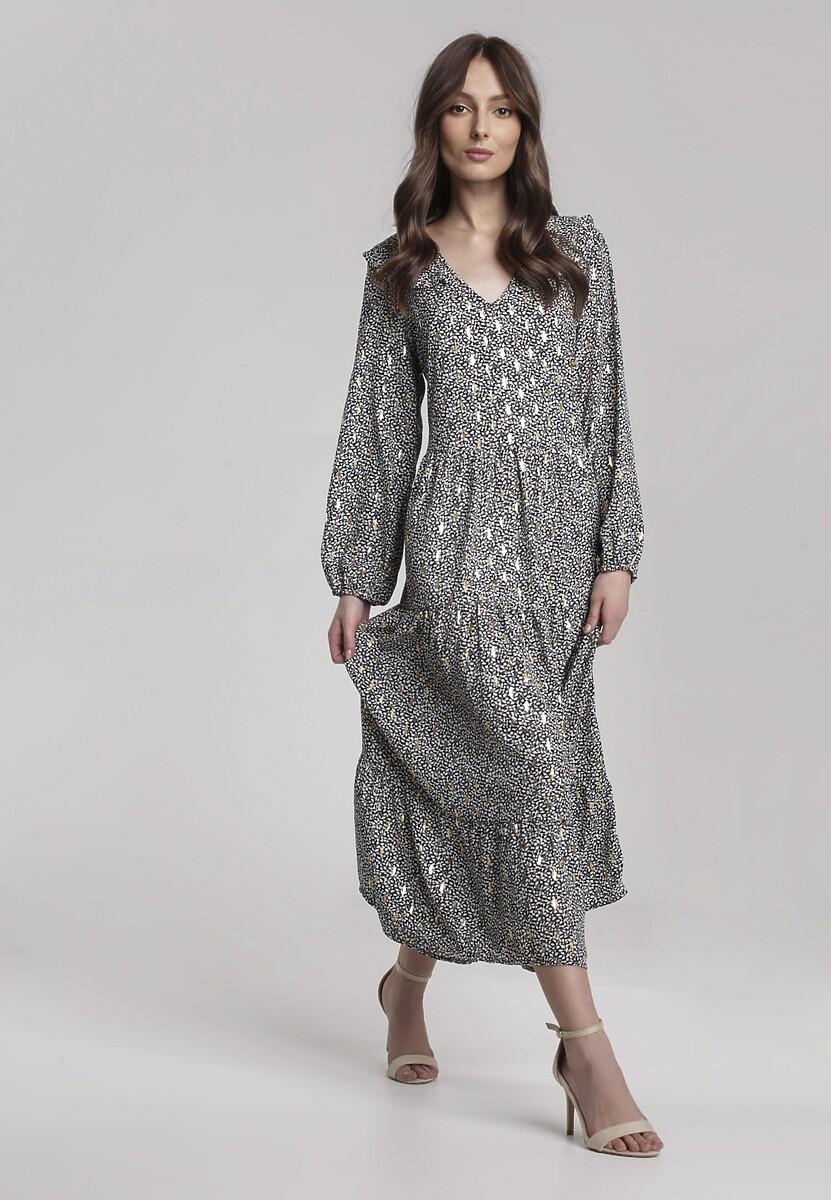 Czarno-Biała Sukienka Picton