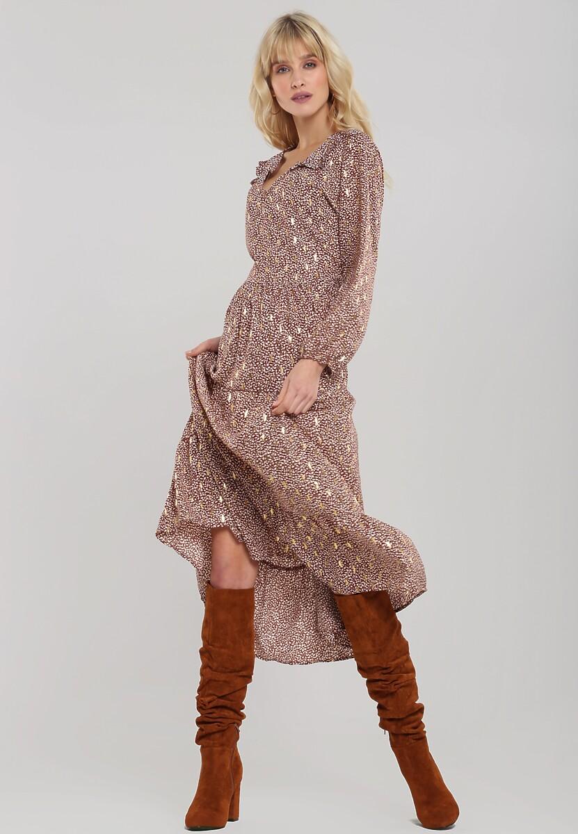 Brązowa Sukienka Picton