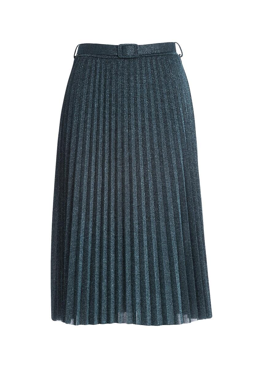 Granatowa Spódnica Gallista