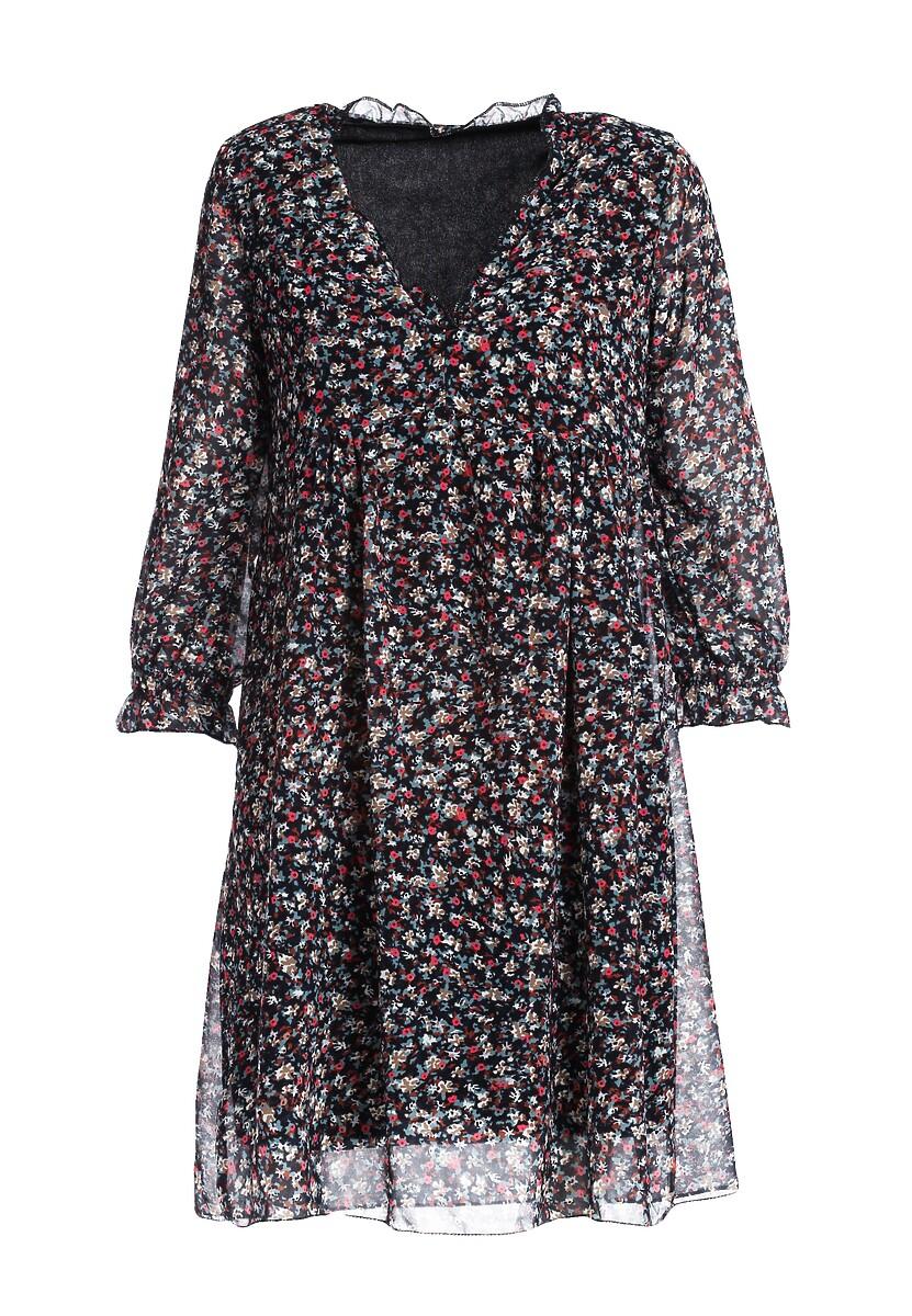 Granatowa Sukienka Prentiss
