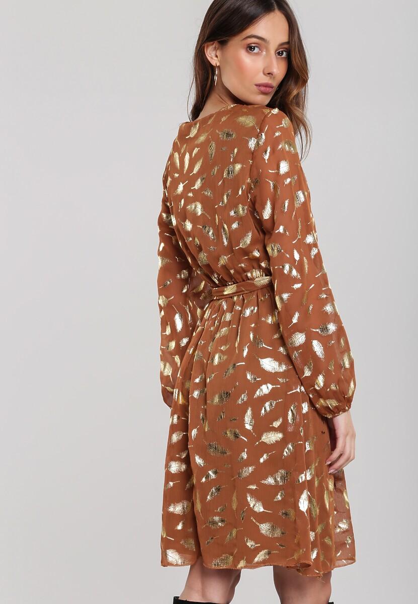 Camelowa Sukienka Tremont