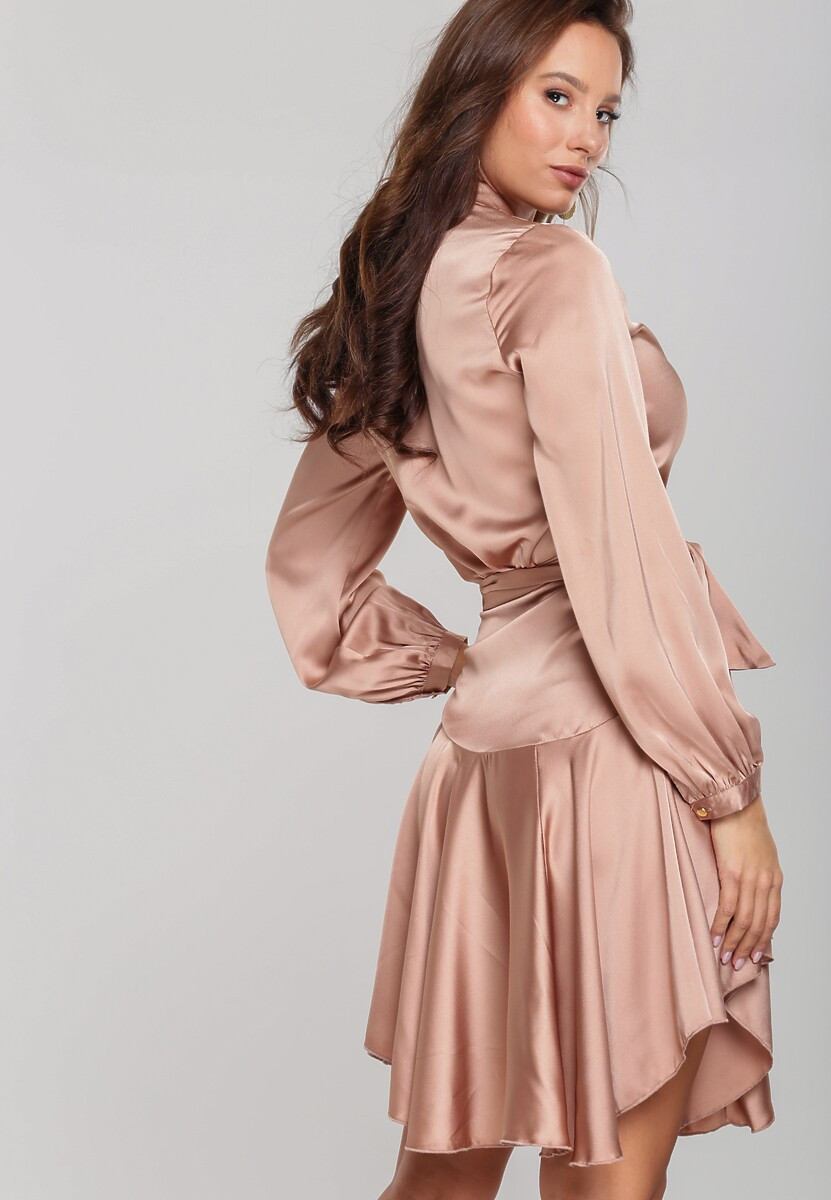 Beżowa Sukienka Camelback