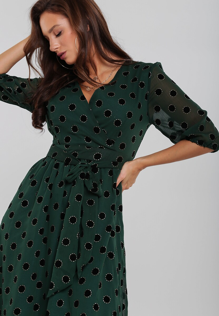 Ciemnozielona Sukienka Melshire