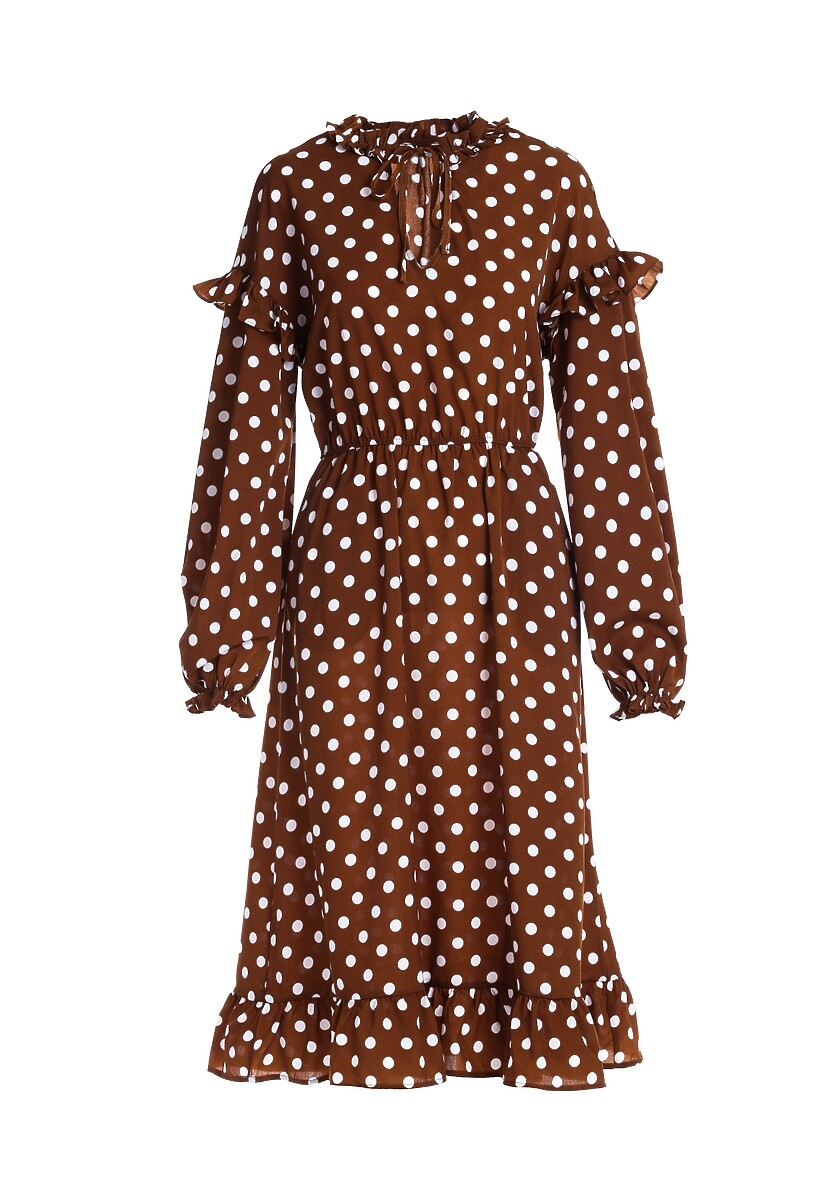 Brązowa Sukienka Annesdale