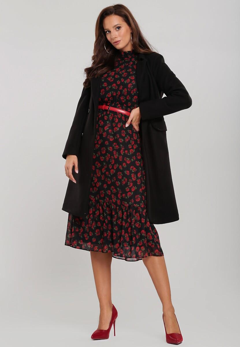 Czarno-Czerwona Sukienka Terrell