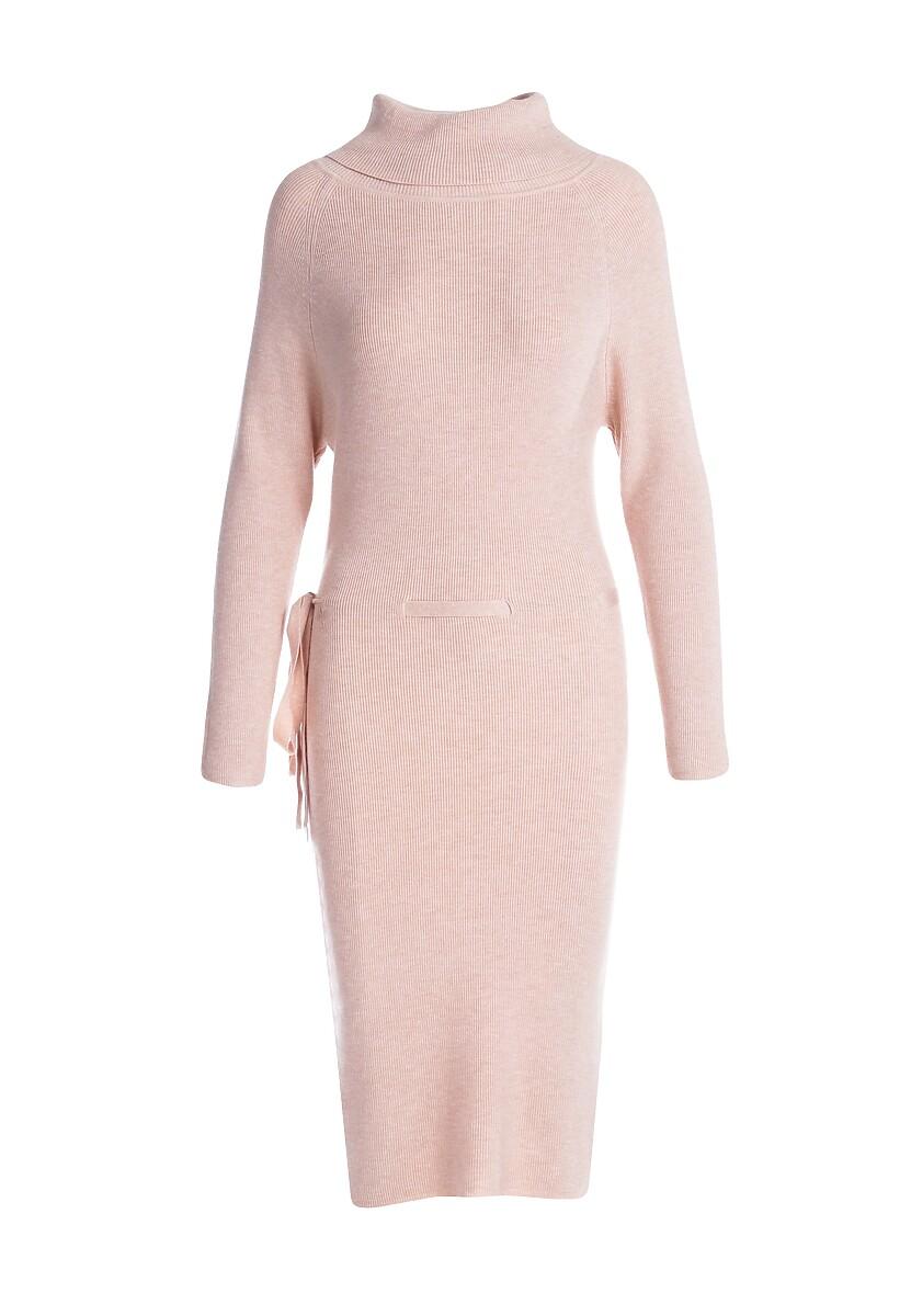 Jasnobeżowa Sukienka Funcof