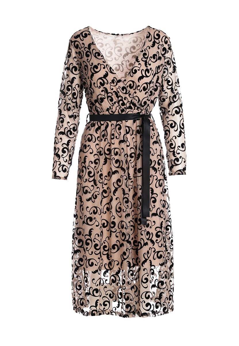 Beżowa Sukienka Hatlight