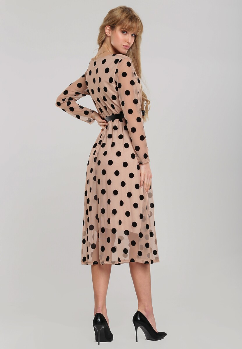 Beżowa Sukienka Elmwood