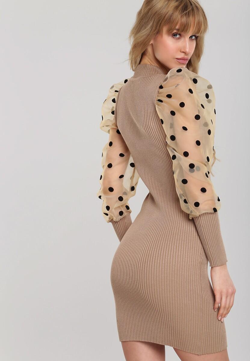 Beżowa Sukienka Hamlin
