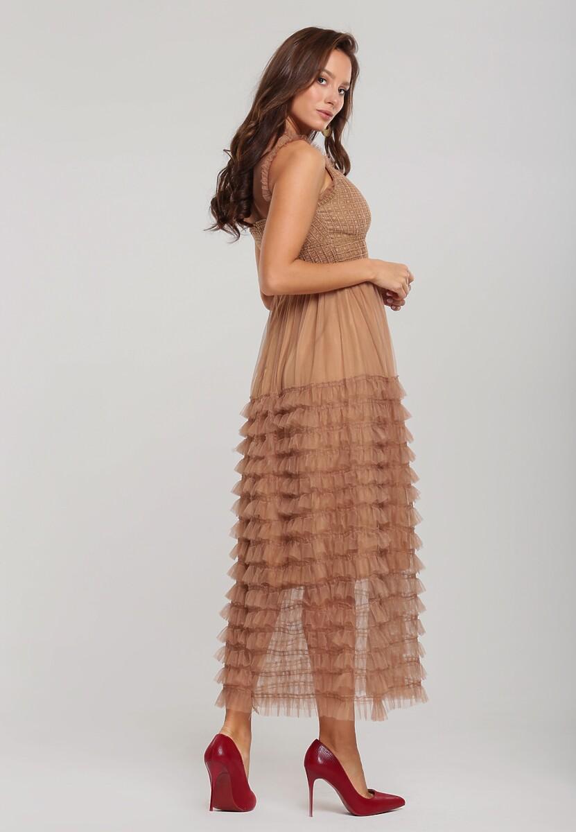 Ciemnobeżowa Sukienka Foxwoods