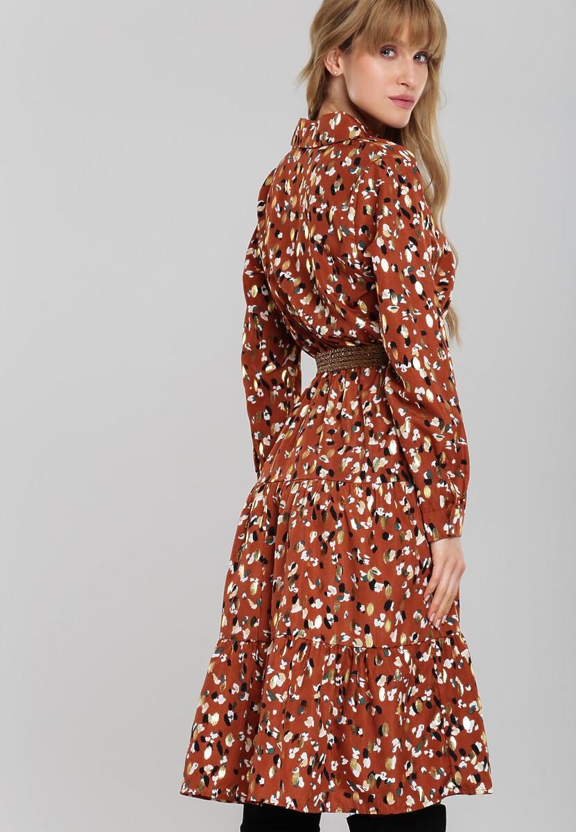Brązowa Sukienka Super Chance