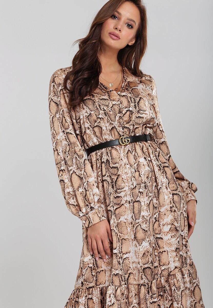 Beżowa Sukienka Bottineau