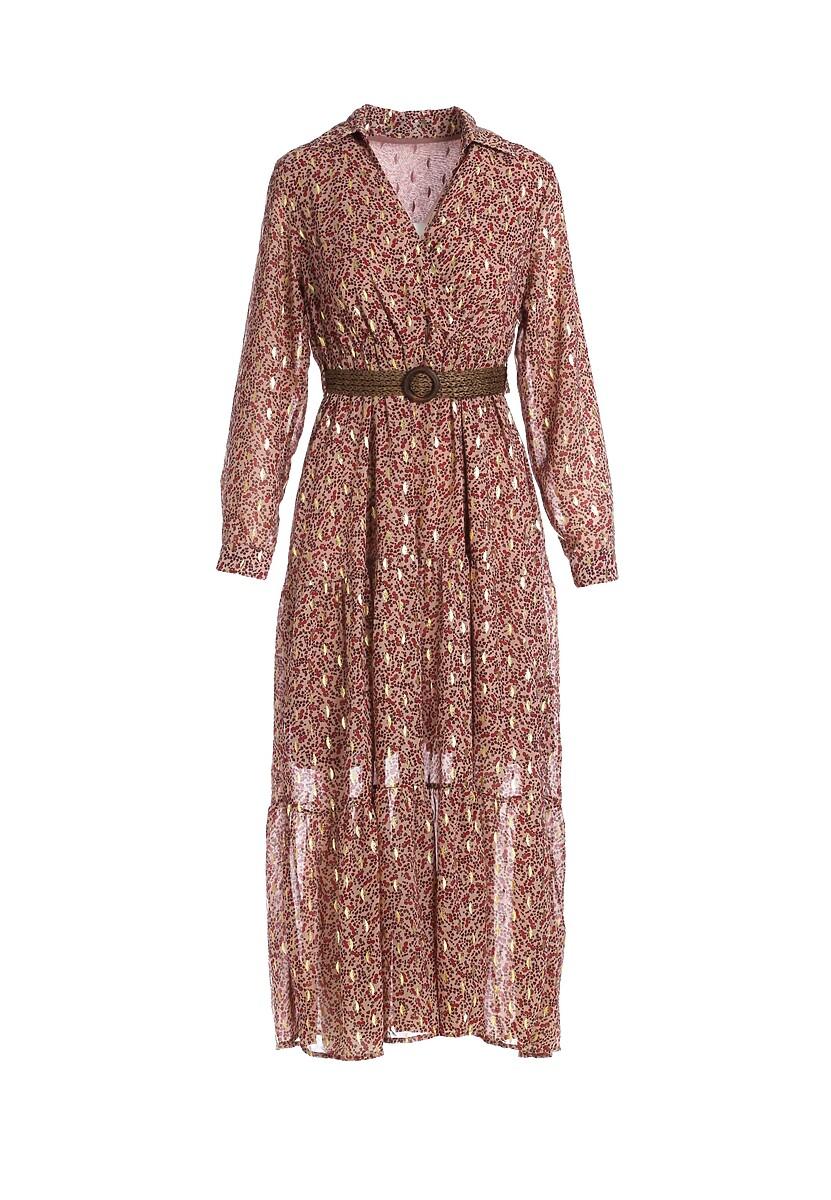 Beżowa Sukienka Beltrami