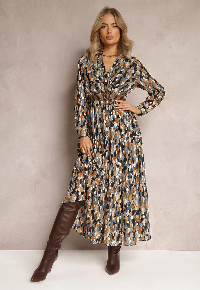 Granatowa Sukienka Bancroft