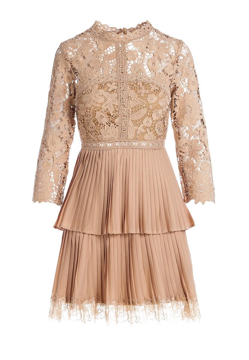 Ciemnobeżowa Sukienka Merriwether