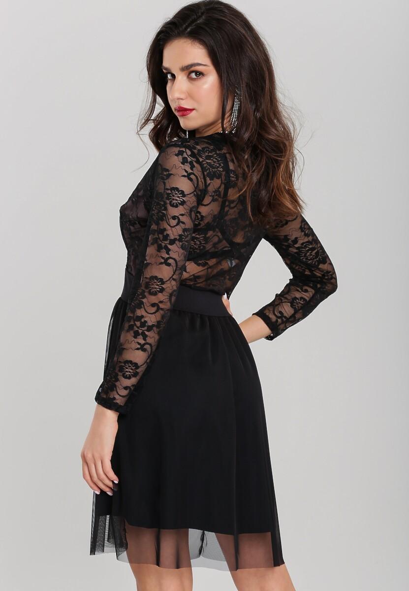Czarno-Różowa Sukienka September Rose